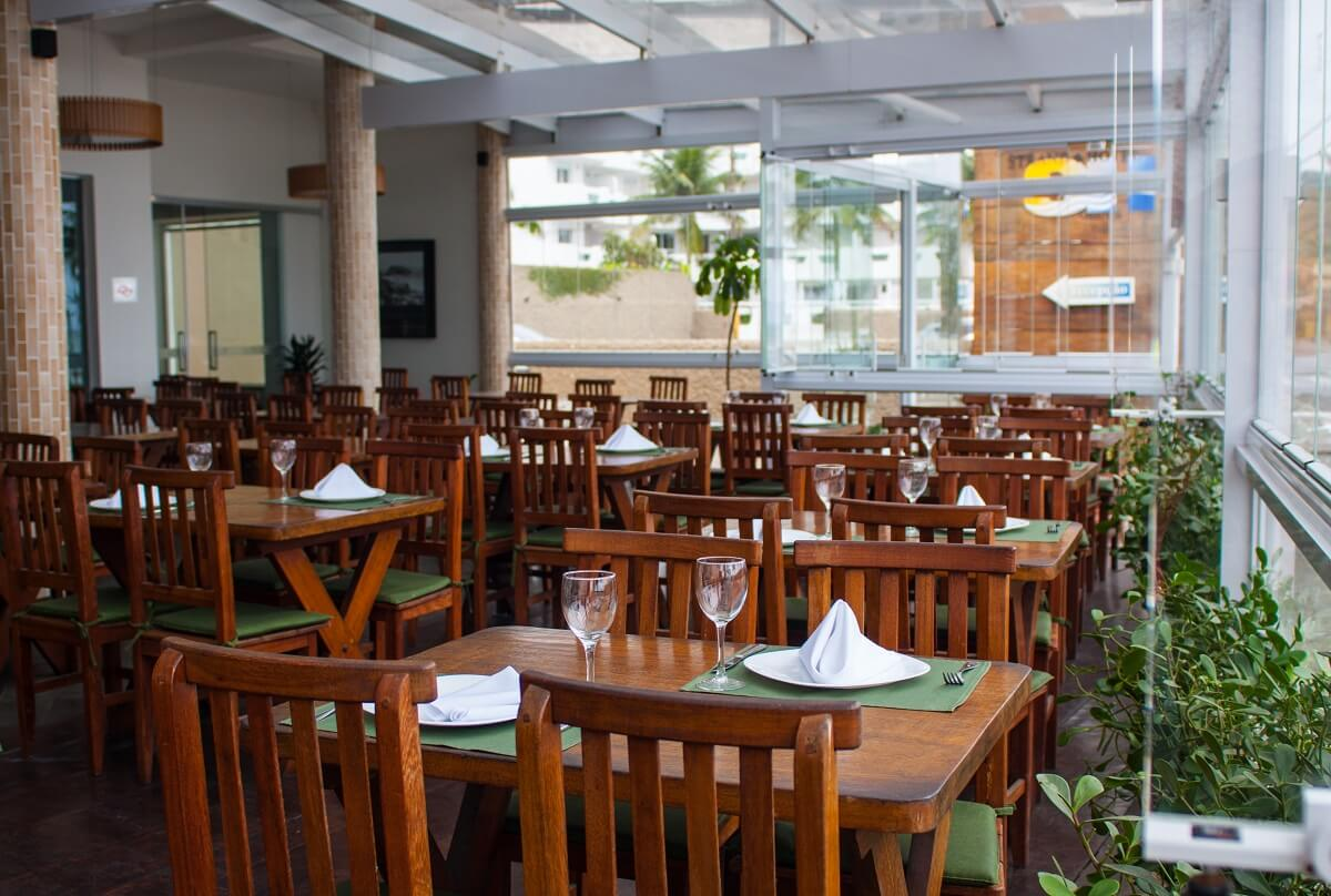 Restaurante Strand Hotel Guarujá Frente Mar