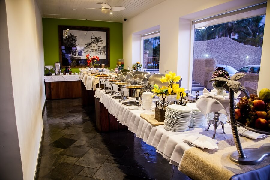 Mesa do Café da Manhã no Strand Hotel